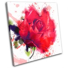 Red Roses Watercolour Floral - 13-0523(00B)-SG11-LO